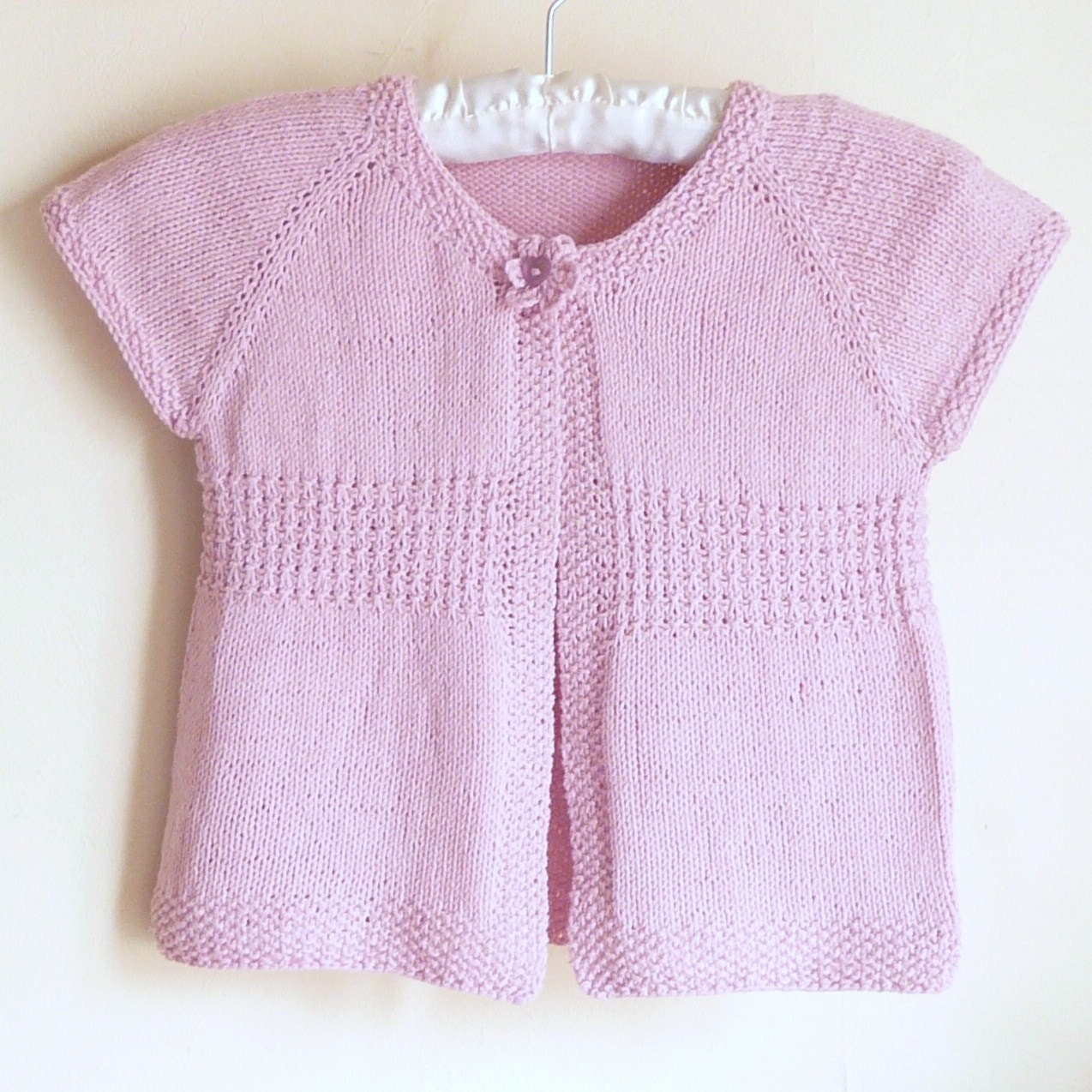 Knitted Baby Vest Pattern : Knitting PATTERN Seamless Top Down Baby Girl CARDIGAN by ceradka