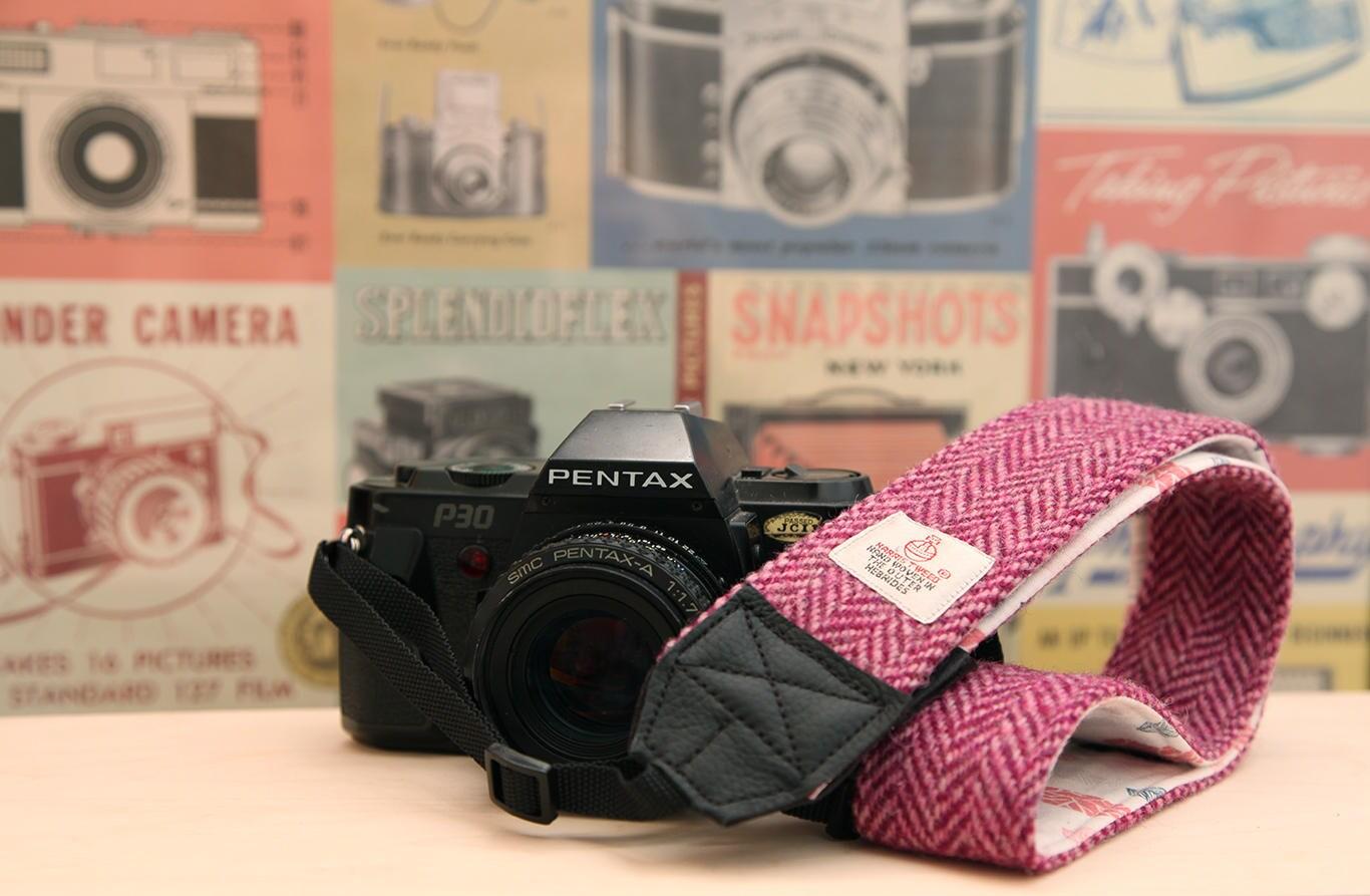 Harris Tweed DSLR SLR Camera Strap Handmade to Order in Scotland