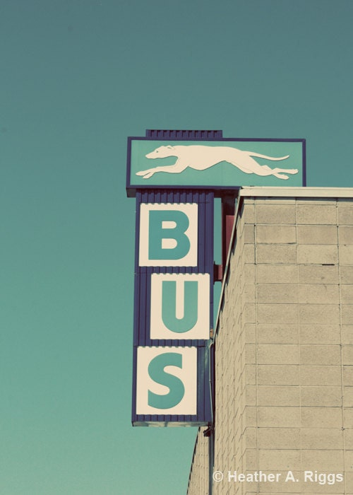 Greyhound Bus Sign, Vintage