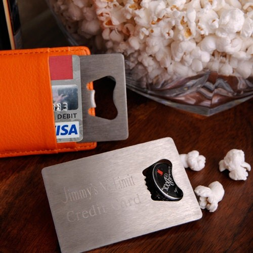 Personalized Credit Card Bottle Opener (923) - RCPersonalizedGifts