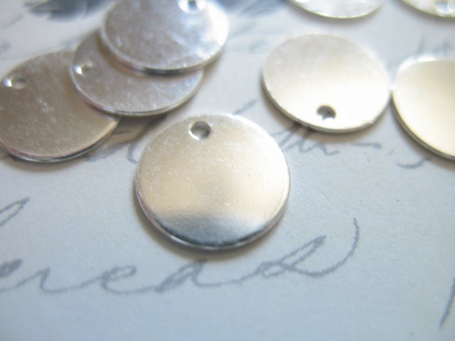 shop salesterling silver blanks discs metal blank sequin