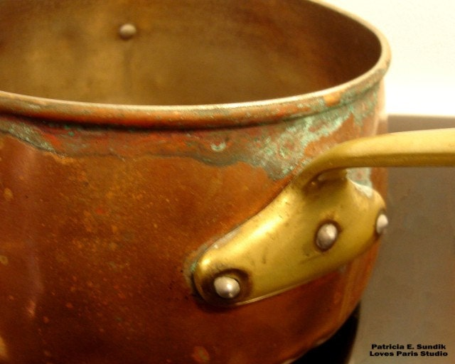 French Copper Pot Photo, 10 x 8,  Photo, Fine Art Photograph
