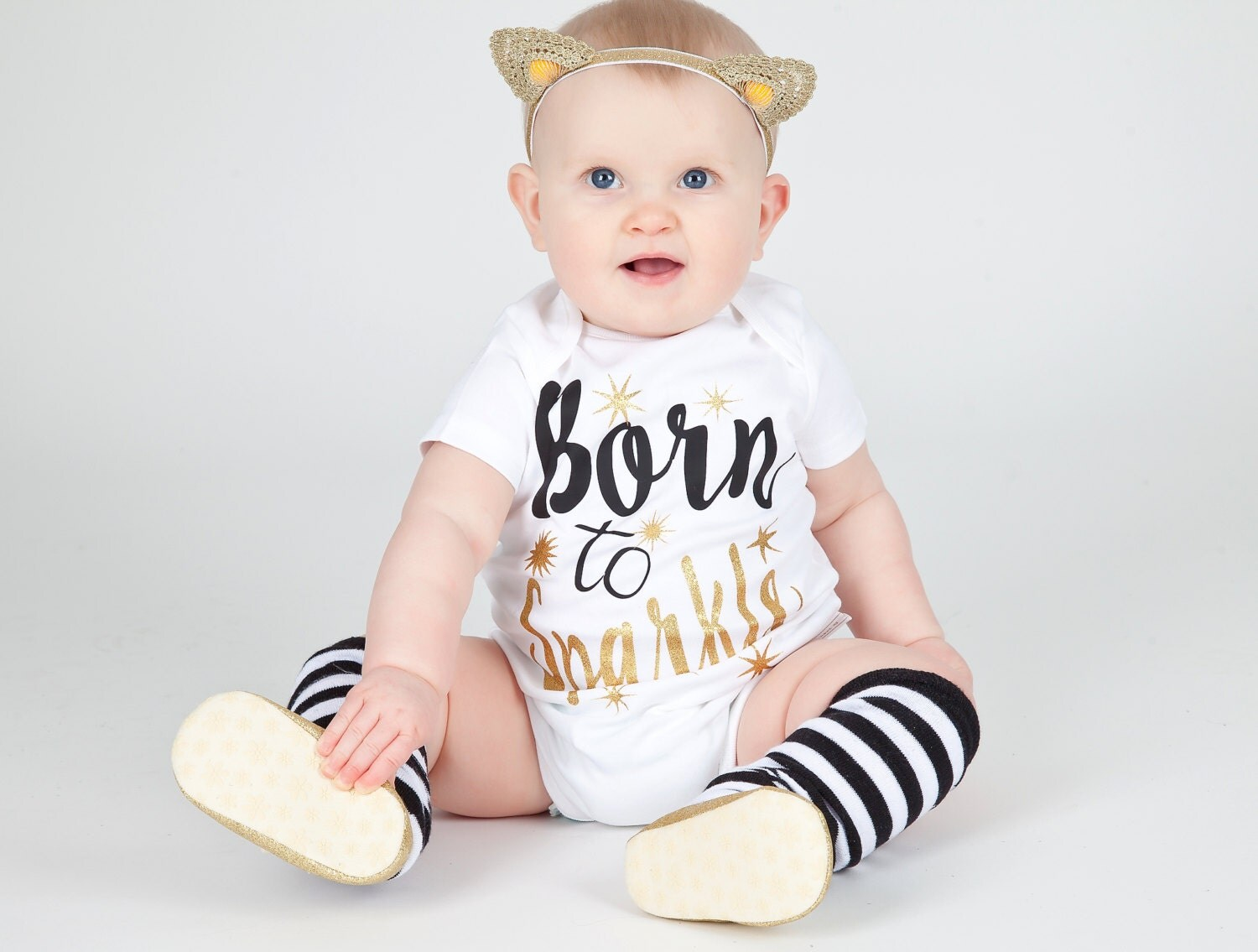 Born To Sparkle  Baby Girl Clothing  Toddler Shirt  Hipster Baby  Glitter Girls T Shirt