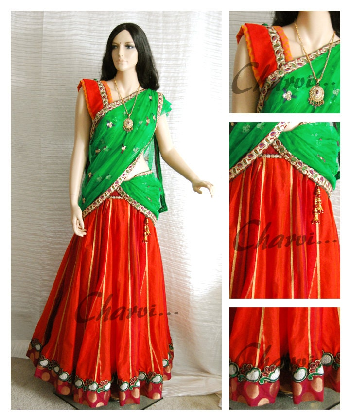 Indian Blouse And Skirt 28