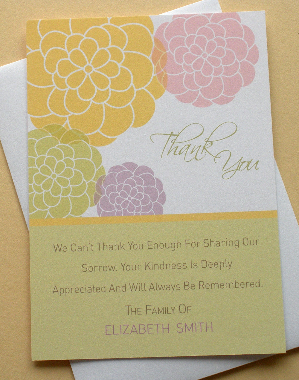 thank you sympathy cards with a colorful bunch of by