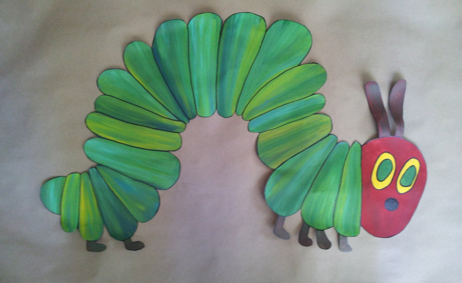 Items similar to eric carle the very hungry caterpillar for Eric carle mural