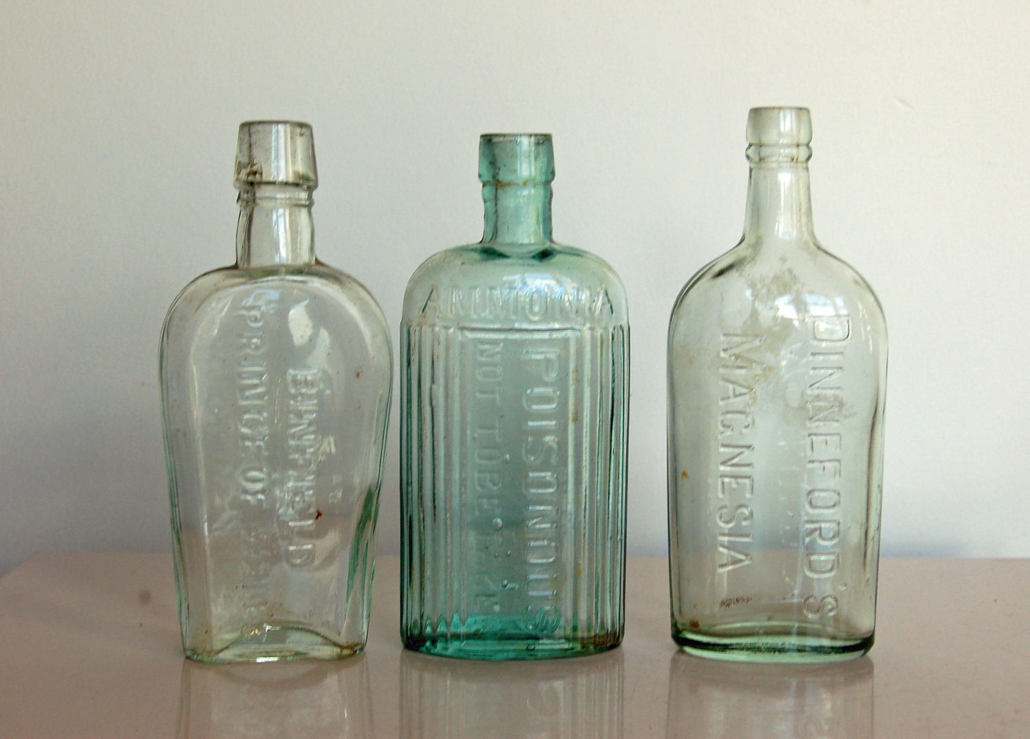 old glass bottles hand dug bottle poison aqua antique by