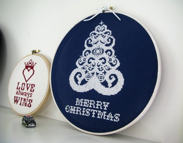 Cristmas Tree Cross Stitch - PDF pattern