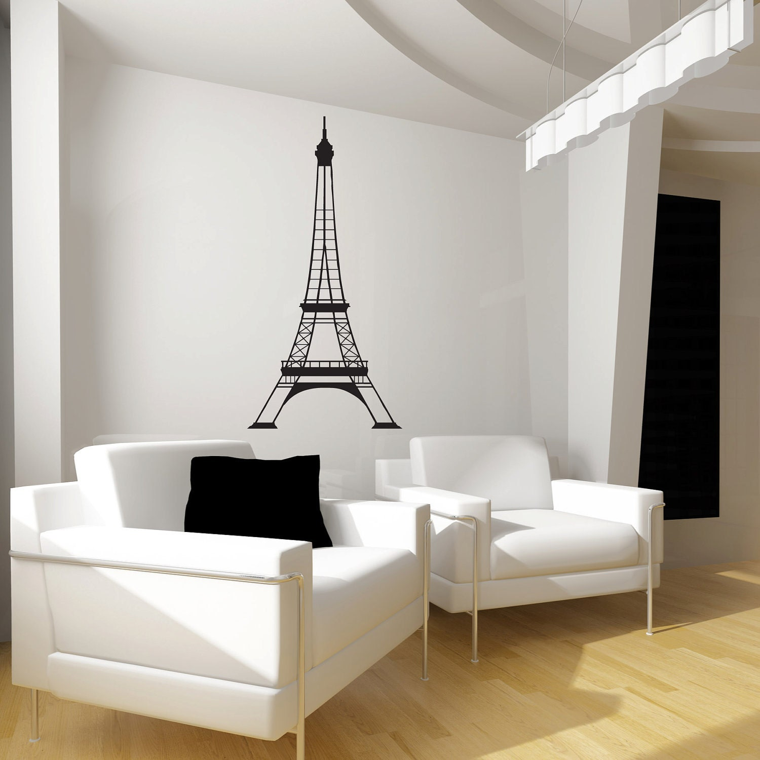 Eiffel Tower Wall Decal SALE Vinyl Wall Art by JaneyMacWalls