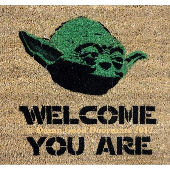 Star Wars Yoda door mat welcome you are mat by ...
