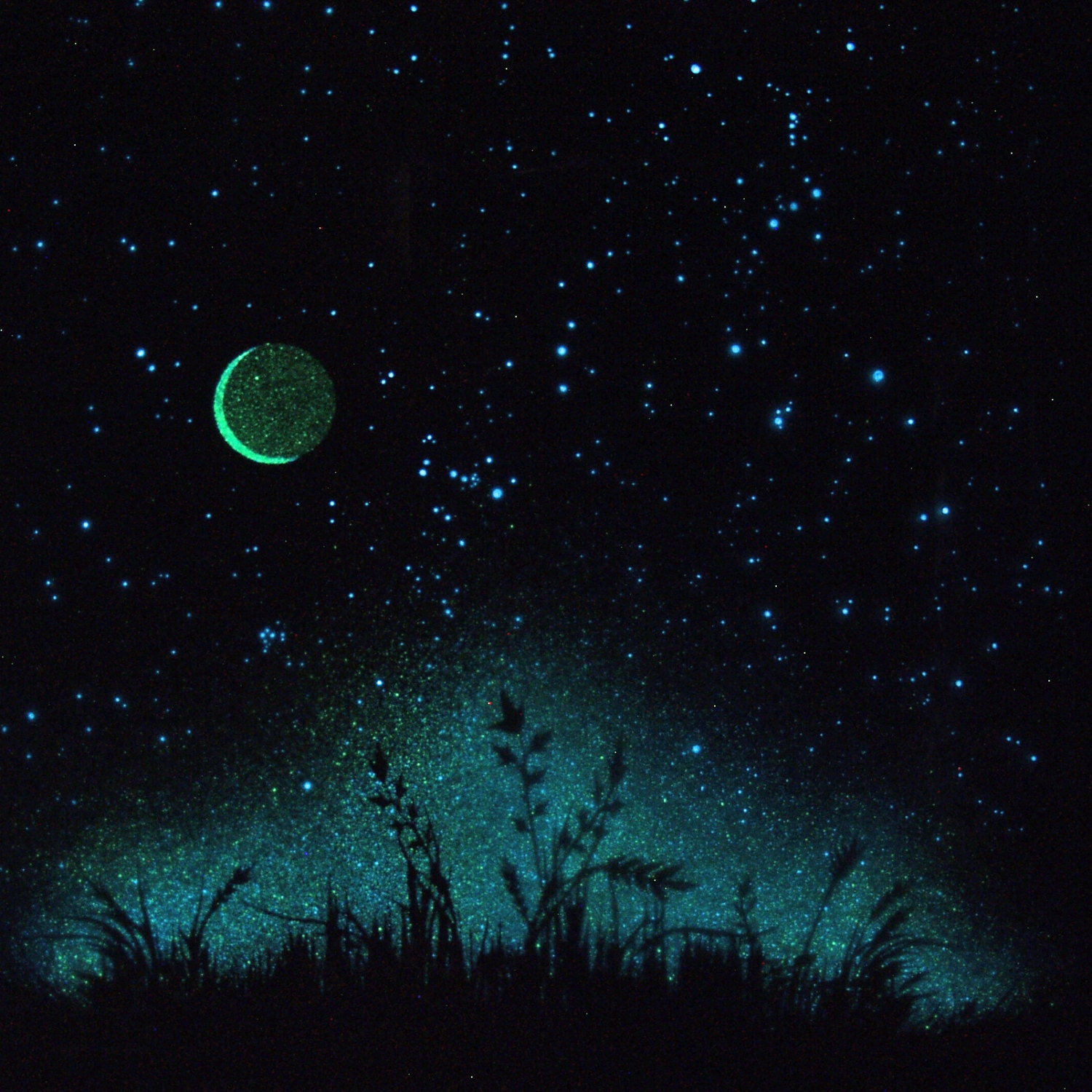 Glow In The Dark Poster A Midsummer 39 S Starry Night By