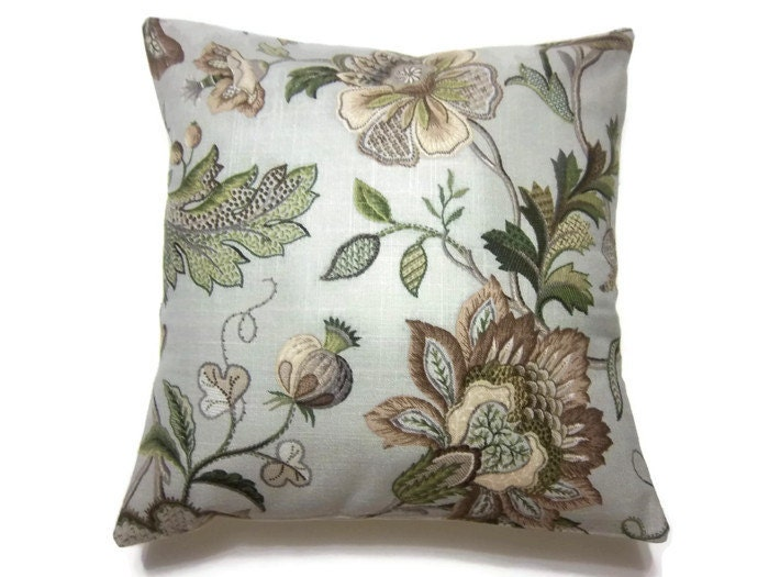 decorative pillow cover olive green taupe by lynnesthisandthat. Black Bedroom Furniture Sets. Home Design Ideas