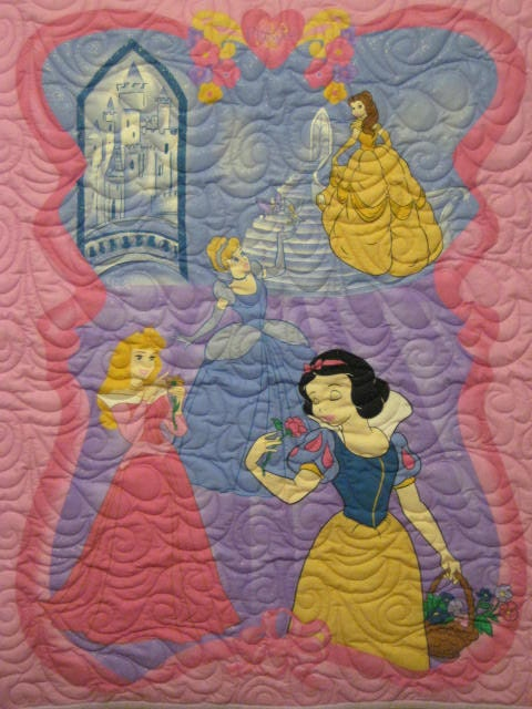 Disney Princesses Quilt - Baby Quilt, Kid Quilt - Ready to Ship to you with FREE SHIPPING in the USA
