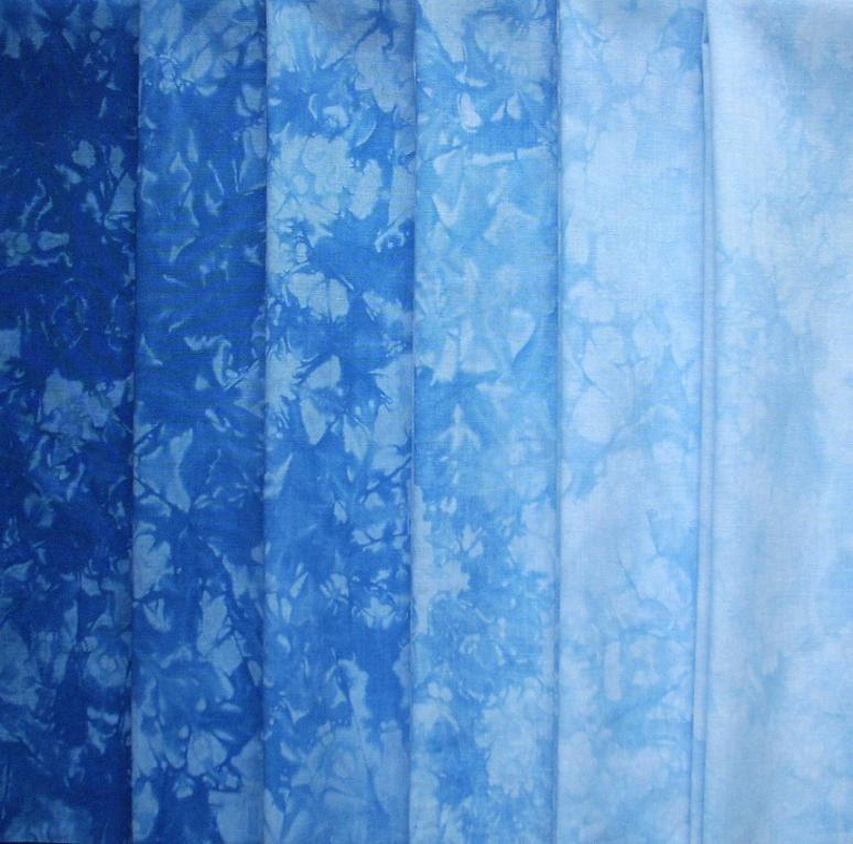 Hand Dyed Cotton Quilt Fabric SKY BLUE by RubyMountainDyeWorks