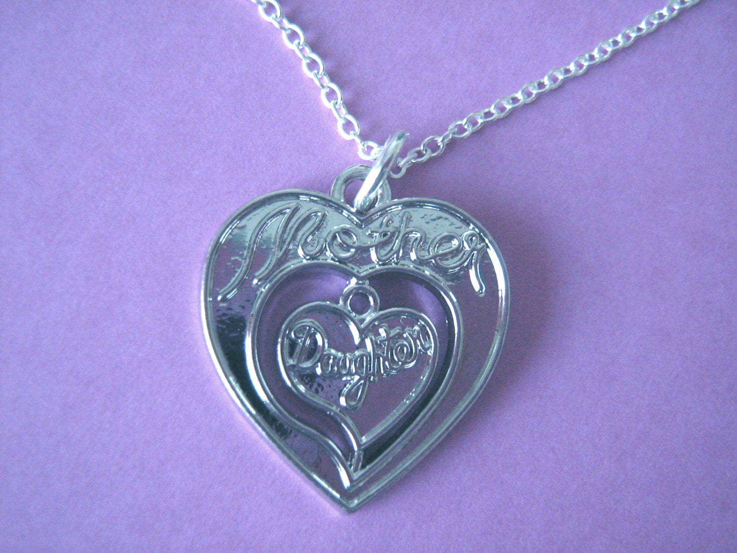 Mother Daughter Necklace Heart Charm Mother Jewellery Keepsake Gift