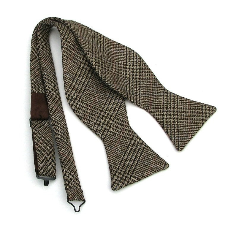 Men's Bow Tie in Glen Plaid Italian Wool