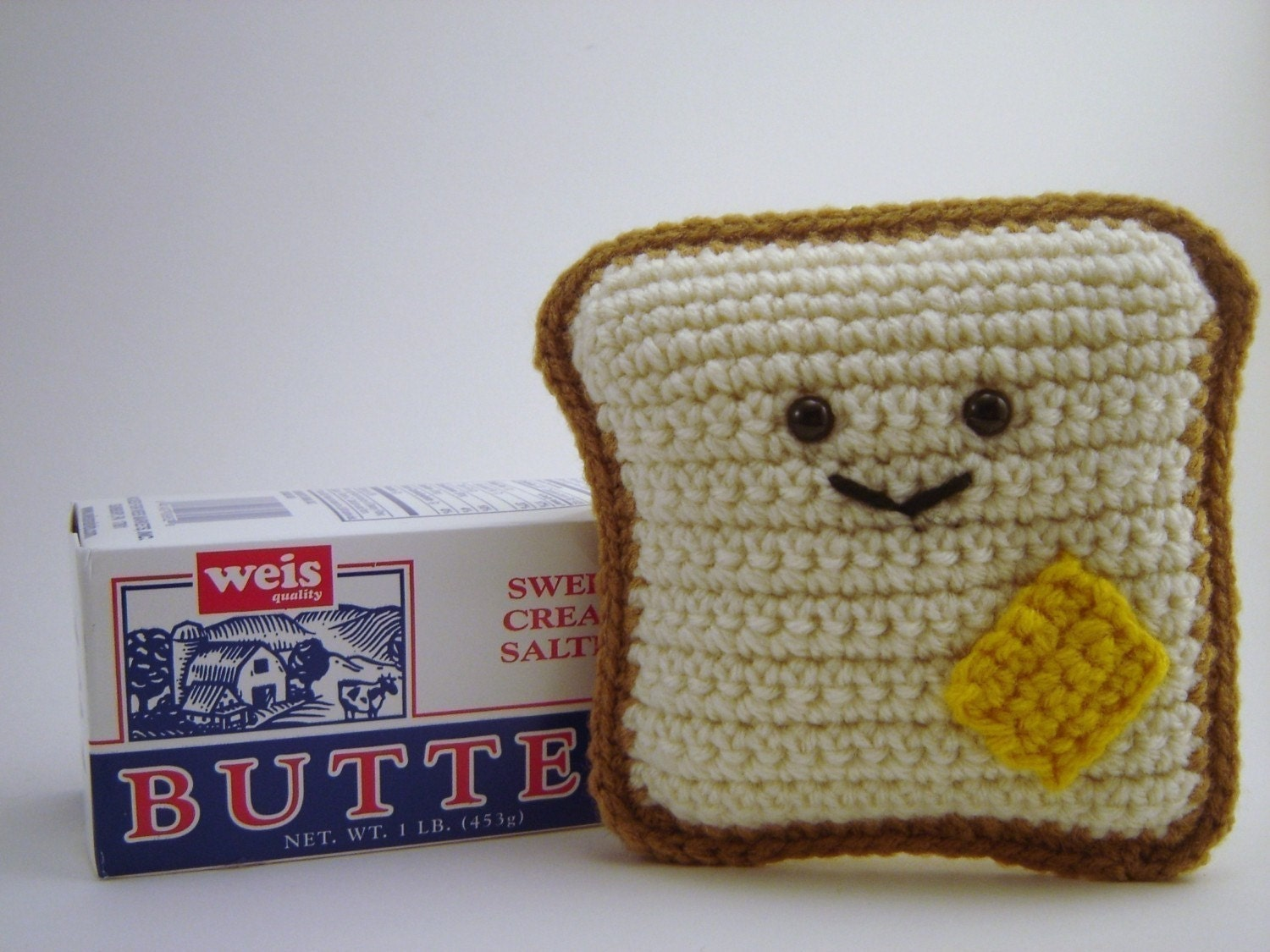 The Original Mr. Toastee - Crochet Bread and Butter Plushie