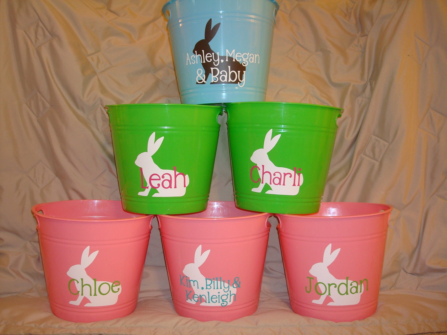 Personalized Easter Bucket - Bunny - Chick - Personalized Bucket