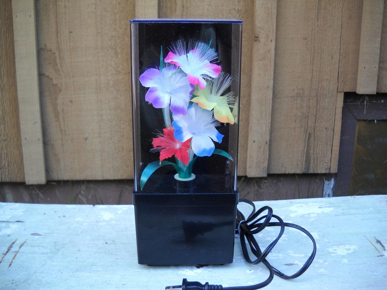 Vintage fiber optic flower light lamp color by tammymadeit for Light up flower lamp