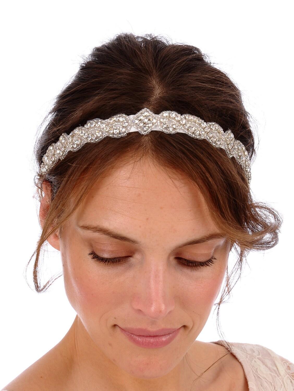 Swarovski Crystal Bridal Headband Ribbon - newhairstylesformen2014.com