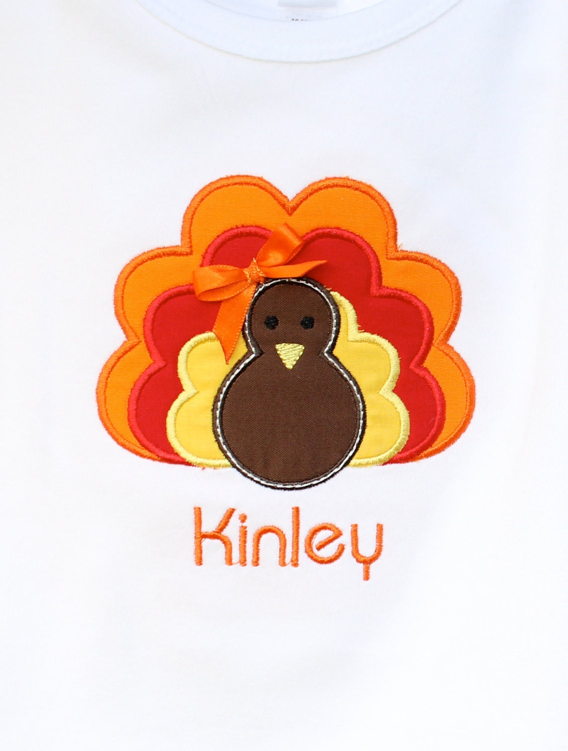 Personalized Girls Turkey with Bow Shirt
