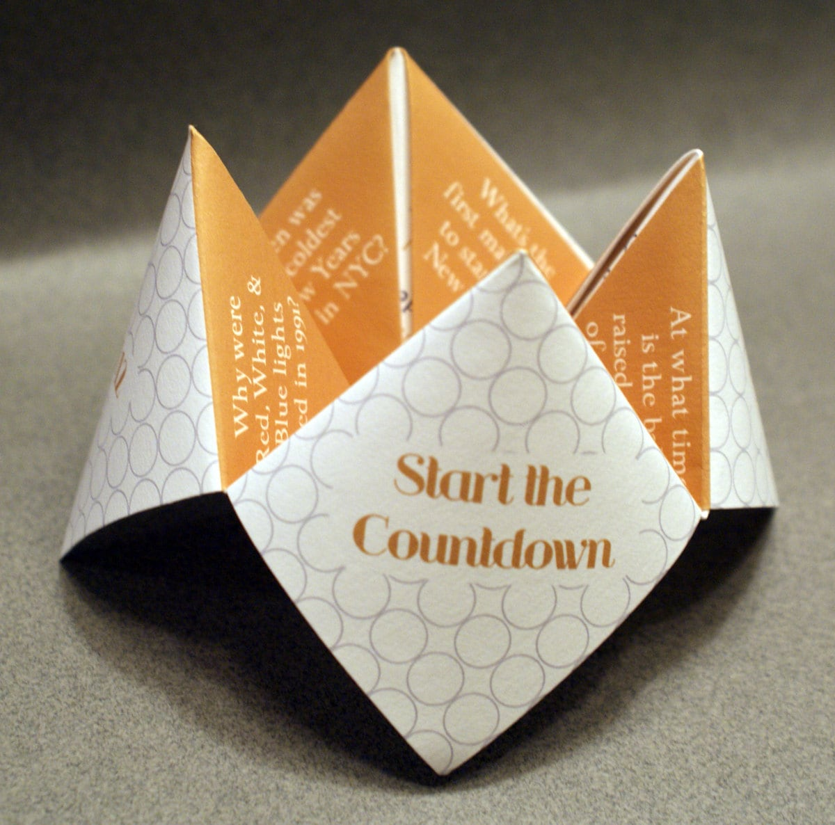 New Years Favor, New Years Card, New Years Decoration, Happy New Year, New Years Eve, Cootie Catcher, Card, Invitation, DIY, Custom