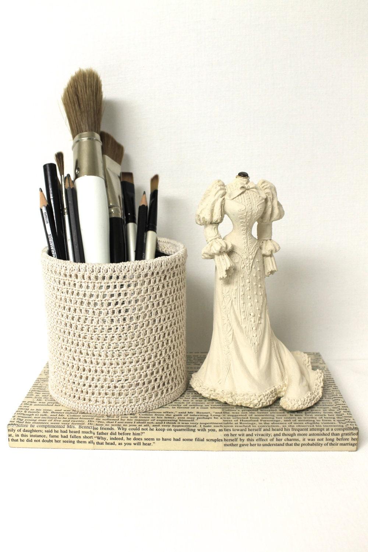 Jane Austen Desk Accessory Pencil Holder Organizer