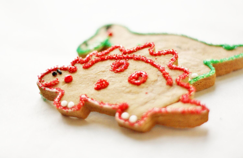 Gingerbreadasaurus - Dinosaur Decorated Gingerbread Cookies - SugarLaneBakeShop