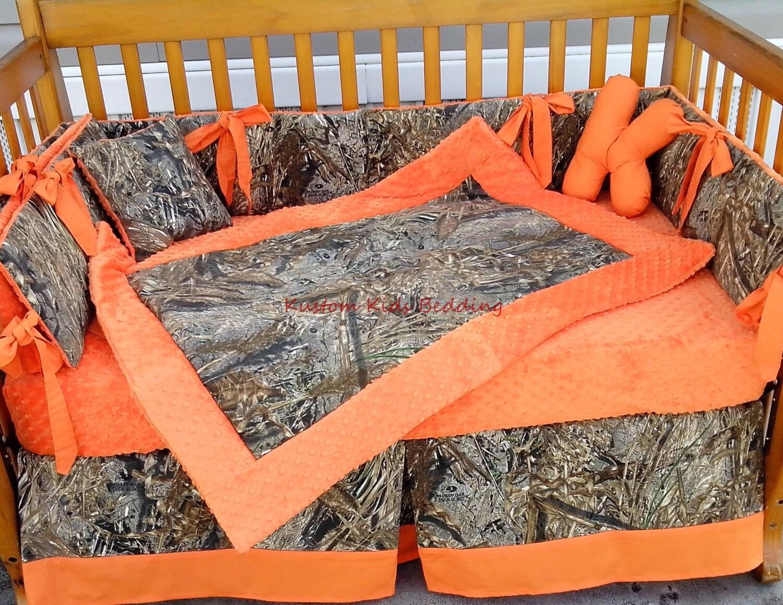 7pc Camo Mossy Oak Fabric Pink Crib Bedding Nursery Set: New 7 Piece DUCK BLIND CAMOUFLAGE Baby Crib By