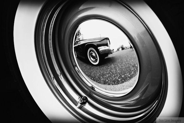 Vintage Car Tire, Black and White - Rustic Wall Art - Classic Car Art Prints - Retro Print - Vintage Car Photography - Garage Art