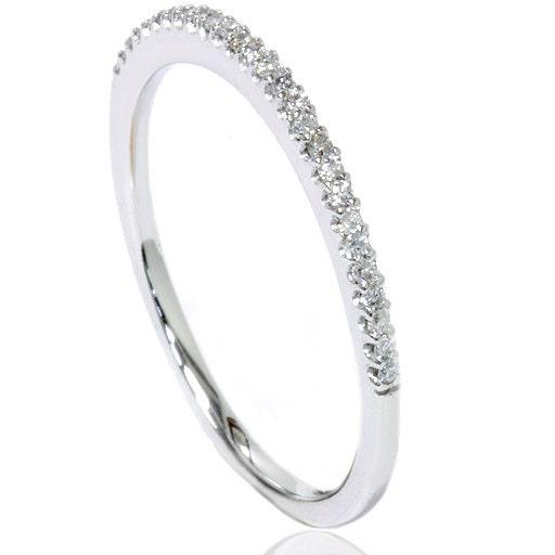 Diamond Wedding Ring Anniversary Thin Pave Band 15CT by Pompeii3