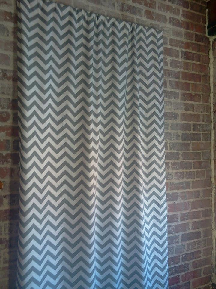 Grey And White Chevron Curtains Curtains Pair 25 Wide Premier Print Grey White 25 X 96 Inch