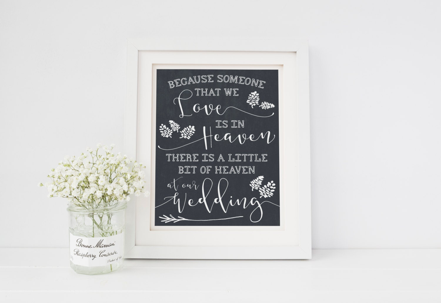 In Memory Of Printable Love Quote  Heaven Weddings Printable Wedding Reception Printable Decor. Printable Sign