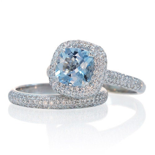 the gallery for gt aquamarine cushion cut engagement rings