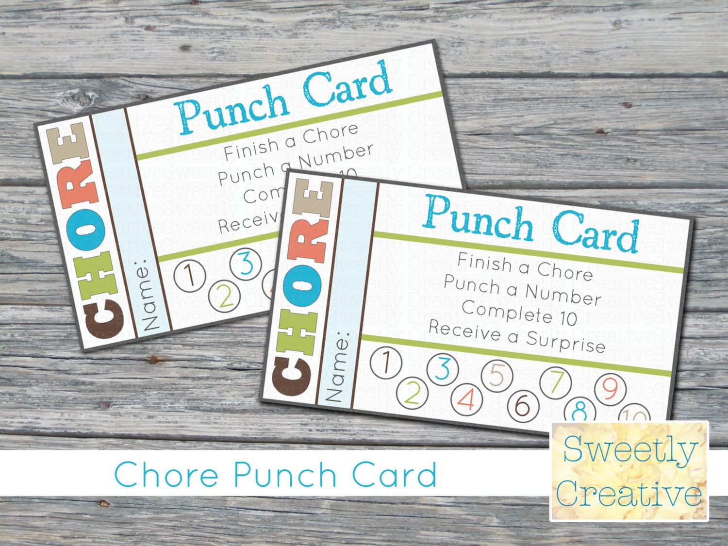 Chore Punch Card Printable