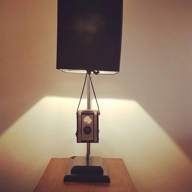 1950s Vintage Kodak Duoflex Camera Table lamp  Side Lamp Photograph  Photographer  Hobbie  Gift