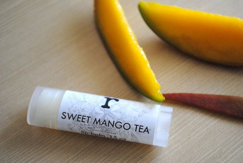 Sweet Mango Tea Lip Balm - Shea Butter, Cocoa Butter, Beeswax, Jojoba Oil