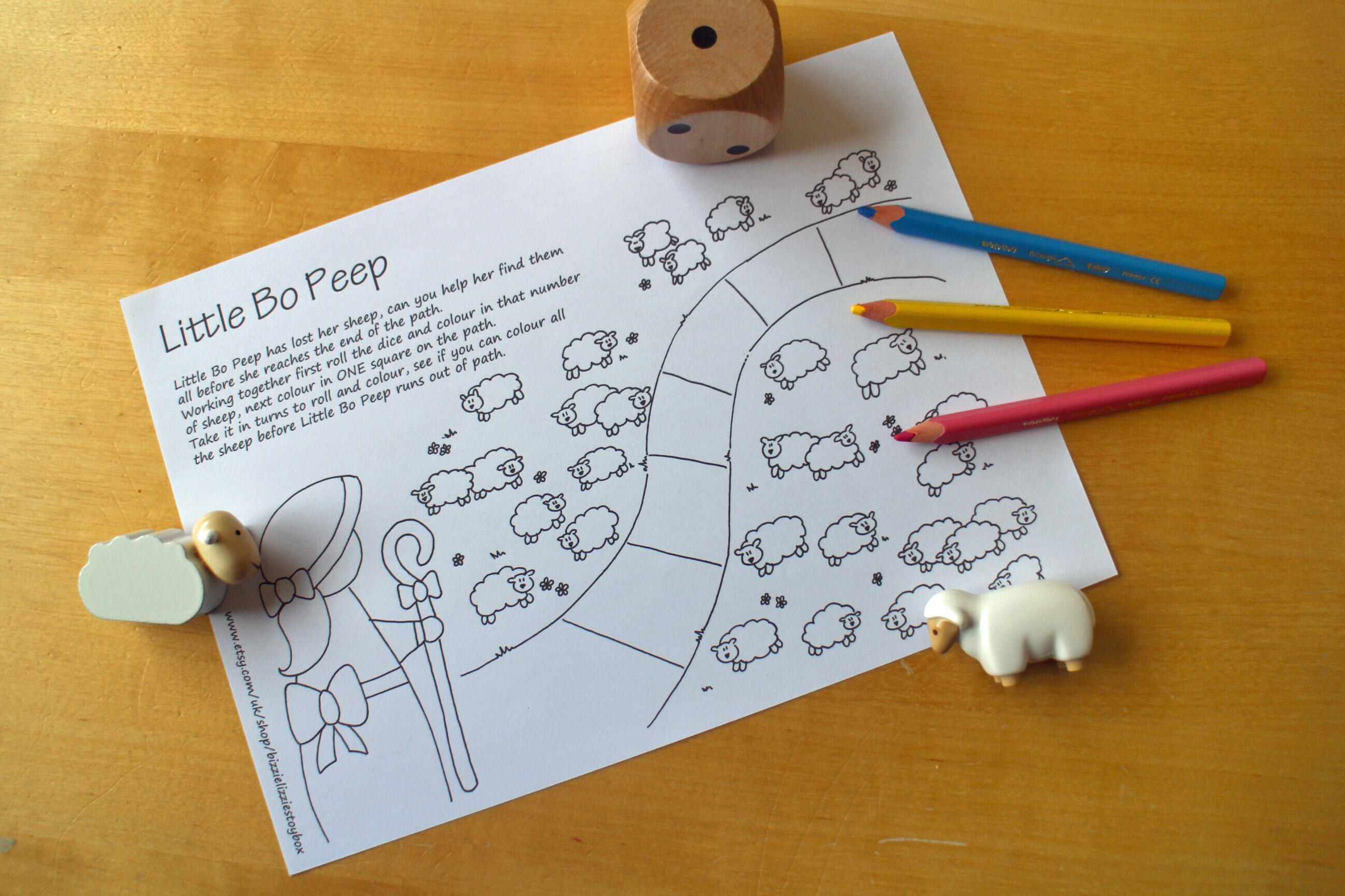 Little Bo Peep Printable Game  Nursery Rhyme Game  Printable Game  Cooperative Game  Todder Games