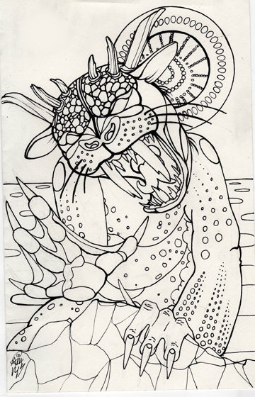 cryptids coloring pages - photo#14