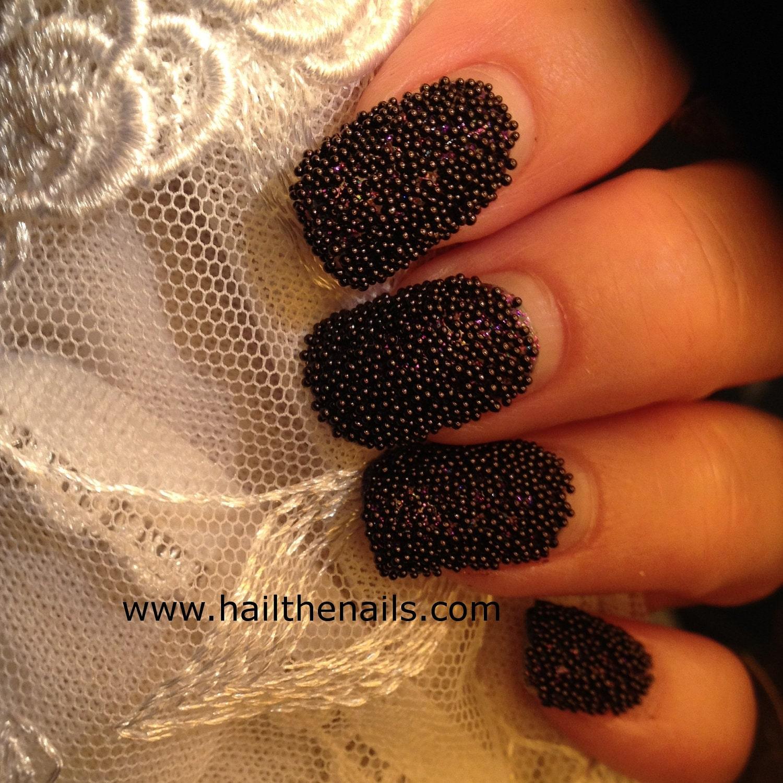 caviar bead nails images