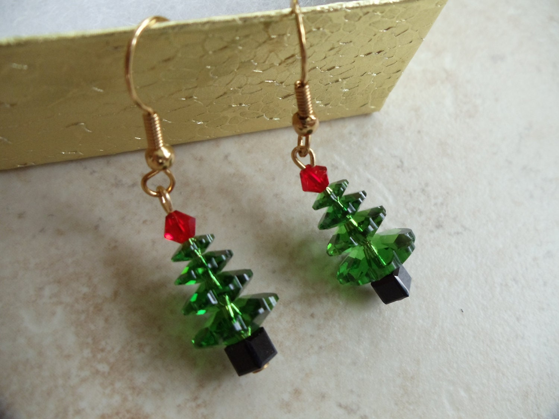 Handmade swarovski crystal christmas jewelry by