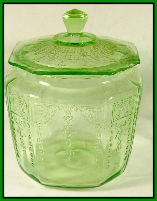 Anchor Hocking Green Depression Glass Patterns