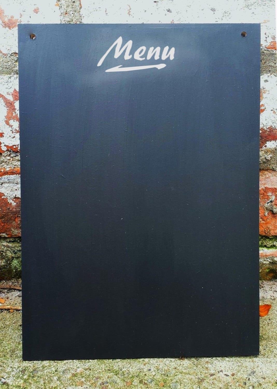 Menu A3 Chalkboard Blank Shabby Chic Blank Large Blackboard