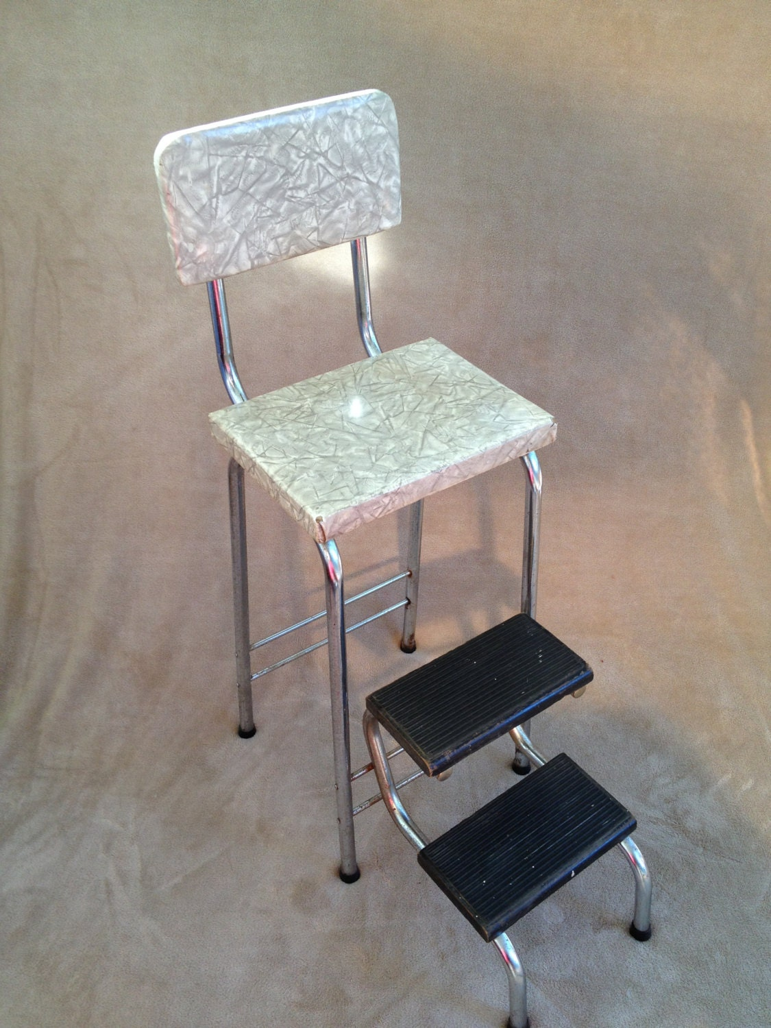 Vintage Fold Out Step Stool and Chair by VarietyRetro on Etsy