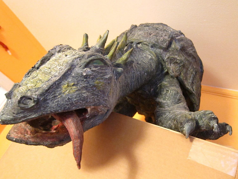 Items similar to sale papier mache dinosaur reptile for Papier mache art for sale