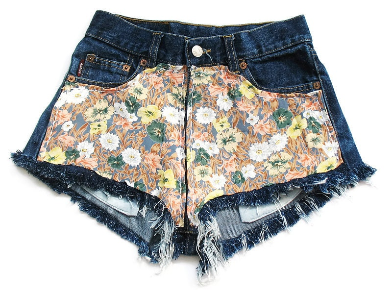 High waisted floral shorts XS
