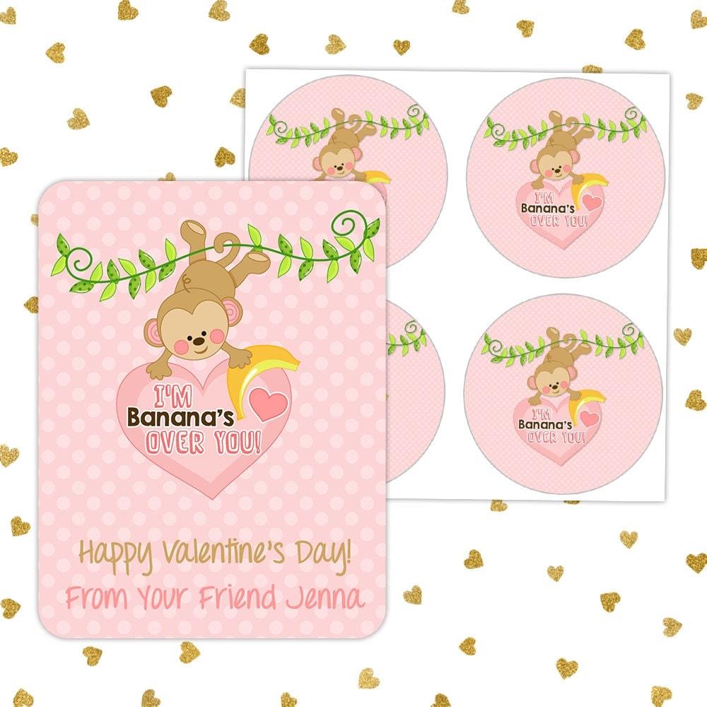 Free Printable Monkey Valentines  artsyfartsy mama