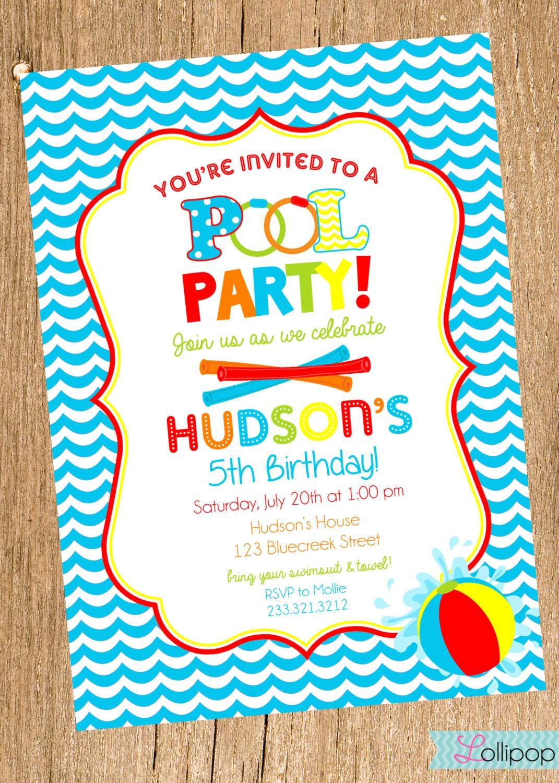 Luscious image inside printable birthday party invitations