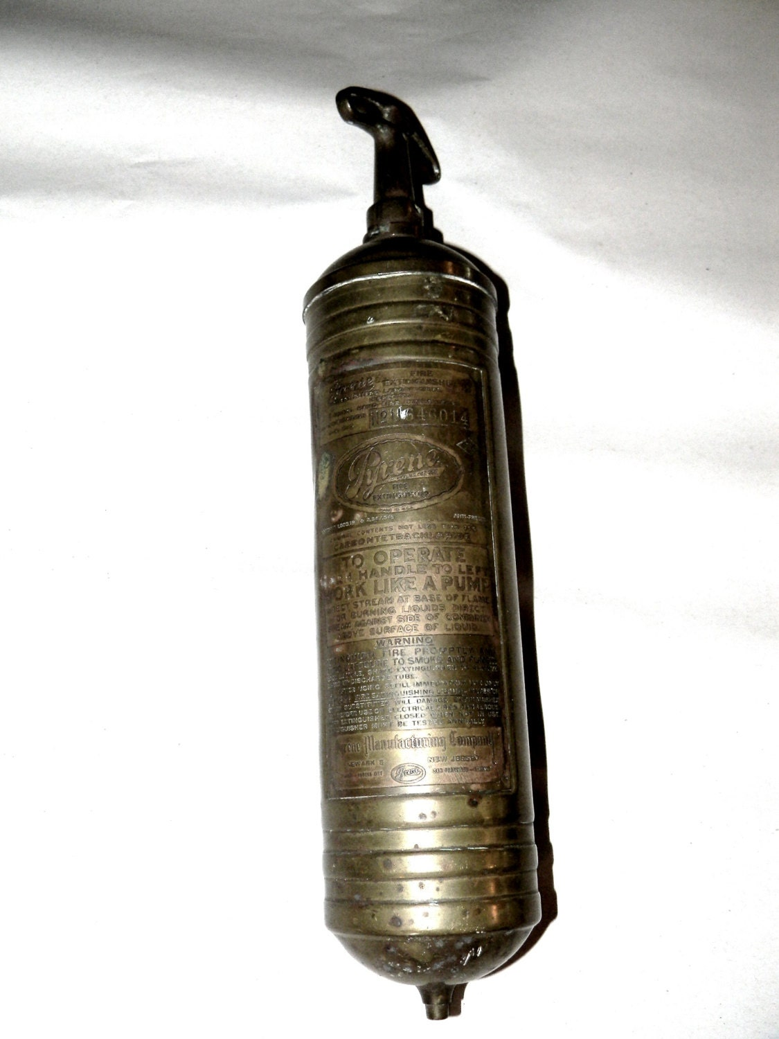 Pyrene fire extinguisher brass