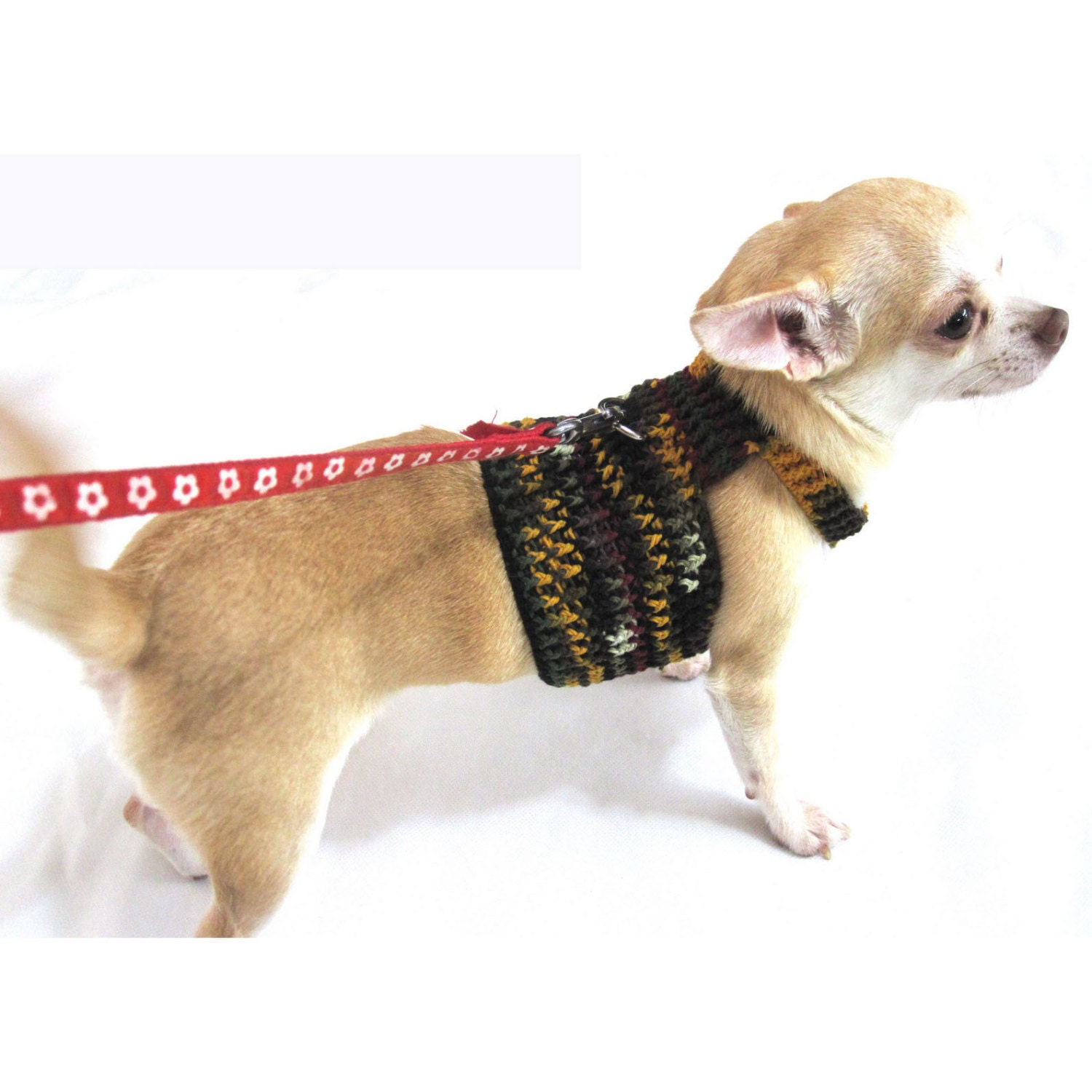 Items similar to Dog Harness Crochet Clothes Small Dog ...